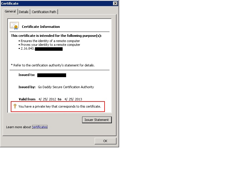 Recover Private Key For Ssl Certificates In Iis Sigkill It