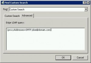 LDAP proxyAddresses Query